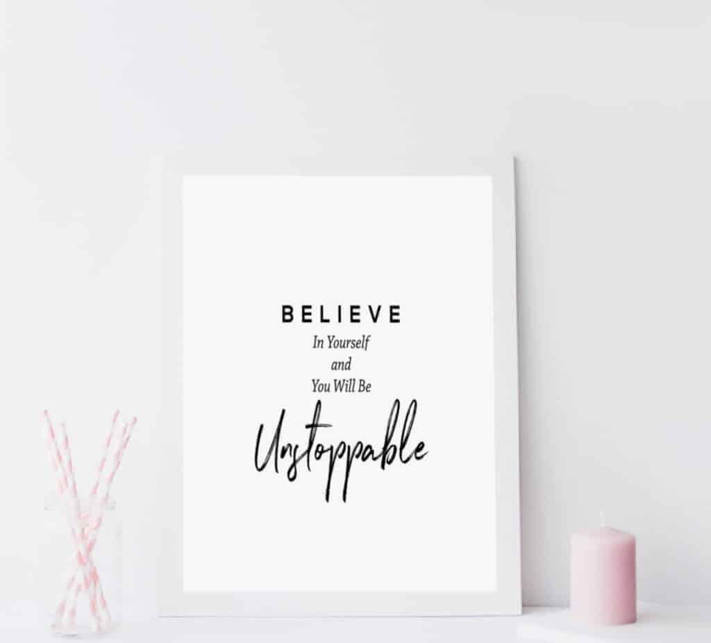 Believe In Yourself A5 Unframed Print