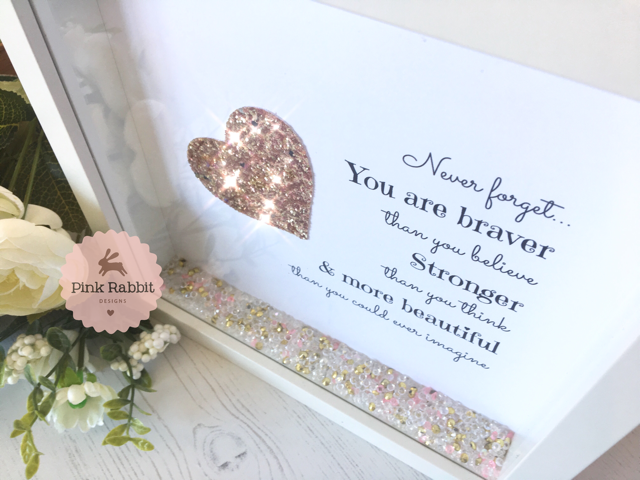 Limited Edition Never Forget You Are Braver Frame - Same Day Dispatch