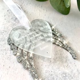 Because Someone We Love Is In Heaven Decoration - Silver Glitter £9.99 + Delivery